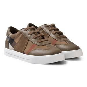 Burberry Boys Sneakers Grey Classic Check Longsley Mink Grey