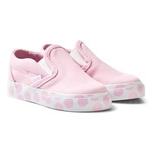 Vans Girls Sneakers Pink Pink Polka Dot Infants Slip On