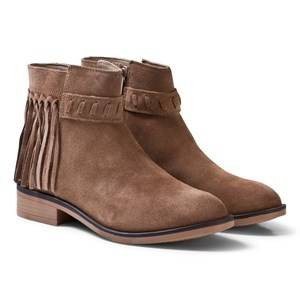Mayoral Girls Boots Brown Tan Leather Suede Fringed Boots