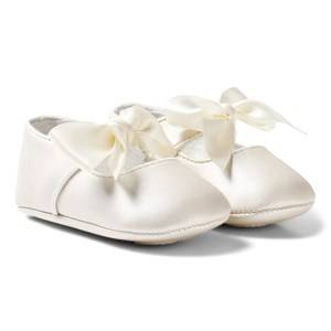 Mayoral Girls Shoes Cream Ivory Bow Buckled Mary Janes
