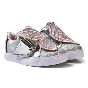 Sophia Webster Mini Girls Sneakers Silver Bibi Low-Tops Silver