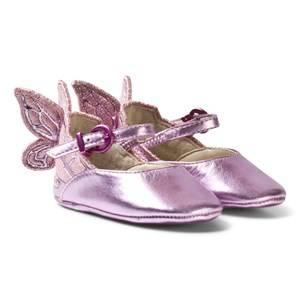 Sophia Webster Mini Girls Shoes Pink Chiara Embroidered Butterfly Crib Shoes Pink