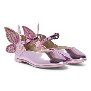 Sophia Webster Mini Girls Shoes Pink Chiara Embroidered Butterfly Shoes Pink