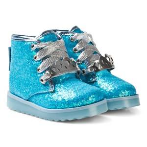 Sophia Webster Mini Girls Boots Blue Wiley Royalty Ankle Boots Blue Glitter