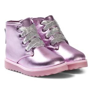 Sophia Webster Mini Girls Boots Pink Wiley Ankle Boots Pink Metallic