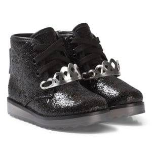 Sophia Webster Mini Girls Boots Black Royalty Ankle Boots Black Glitter