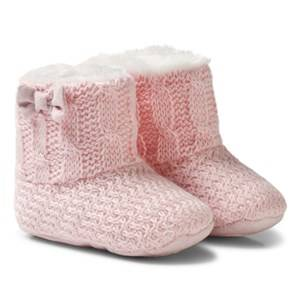 Mayoral Girls Boots Pink Pink Knitted Faux Fur Lined Booties