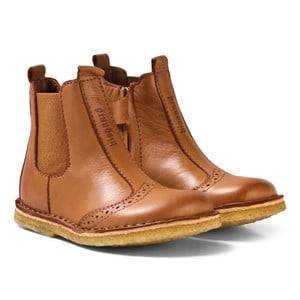 Bisgaard Unisex Boots Brown Leather Boots Cognac
