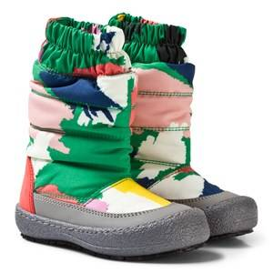 Stella McCartney Kids Girls Boots Green Multi Camo Mai Ski Boots