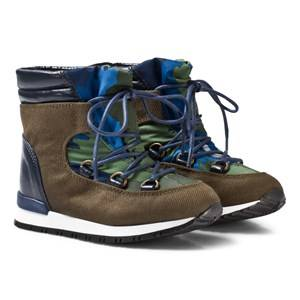 Stella McCartney Kids Boys Boots Green Olive Navy Ski Boots