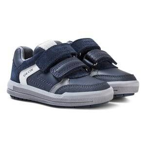 Geox Boys Sneakers Navy Navy Suede Jr Arzach Sneakers