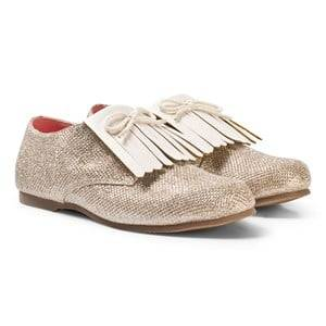 Billieblush Girls Shoes Gold Glitter Fringed Shoes Gold