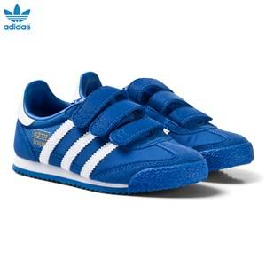 adidas Originals Boys Sneakers Blue Blue and White Kids Dragon Trainers