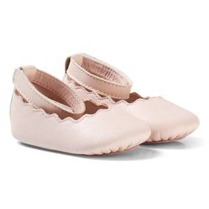 Chloé Girls Shoes Pink Pale Pink Scallop Shoes