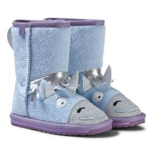 Emu Australia Girls Boots Blue Little Creatures Unicorn Boots