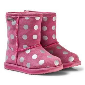Emu Australia Girls Boots Pink Spotty Brumby Boots