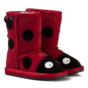 Emu Australia Unisex Boots Red Red Suede Ladybird Boots with Merino Lining