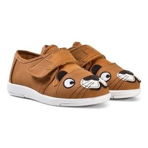 Emu Australia Boys Sneakers Brown Little Creatures Lion Sneakers