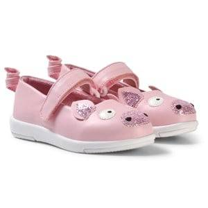 Emu Australia Girls Sneakers Pink Pale Pink Faux Leather Pig Velcro Shoes