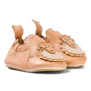 Easy Peasy Girls Shoes Pink Pink Leather Sheep BluBlu Shoes with Anti Slip Sole