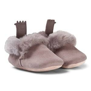 Easy Peasy Unisex Shoes Grey Grey Ecorce Shearling Crib Booties
