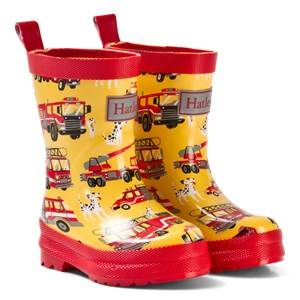 Hatley Boys Boots Yellow Fire Trucks Classic Rain Boots