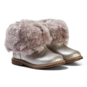 Pom Dapi Girls Boots Silver Retro Chabraque Boots in Iron