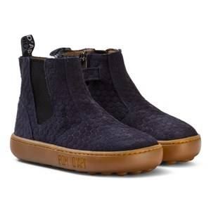 Pom Dapi Girls Boots Blue Walk Jodpur Basic Boots Marine