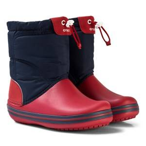 Crocs Unisex Boots Blue Crocband LodgePoint Boot K Navy/Red
