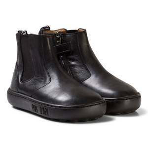 Pom Dapi Girls Boots Black Walk Jodpur Basic Black
