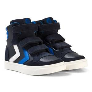 Hummel Unisex Sneakers Black Stadil Leather Jr Trainers Total Eclipse