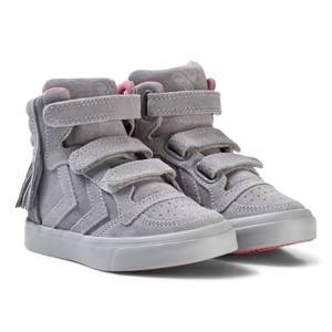 Hummel Unisex Sneakers Grey Stadil Fringes Jr Trainers Alloy