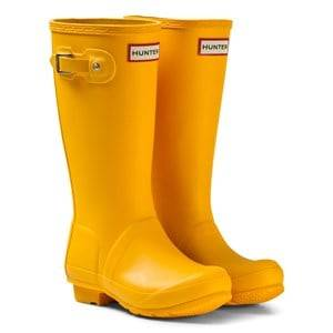 Hunter Unisex Boots Yellow Hunter Original Kids Wellington Boots Yellow