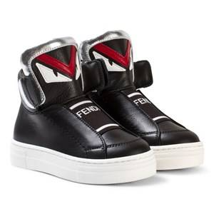 Fendi Boys Sneakers Black Black Monster High Top Sneakers