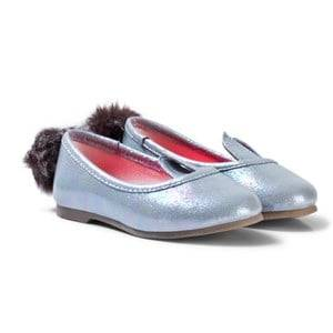 Billieblush Girls Shoes Silver Silver Metallic Bunny Pumps