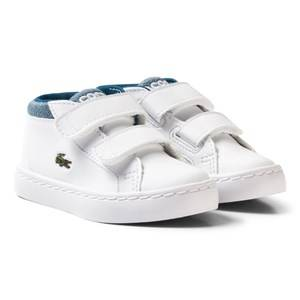 Lacoste Boys Sneakers White White and Blue Chukka 317 1 Trainers