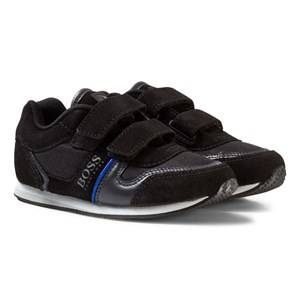 Boss Boys Sneakers Blue Black Velcro Branded Trainers