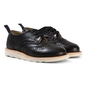 Young Soles Boys Shoes Black Brando Black Leather Brogues