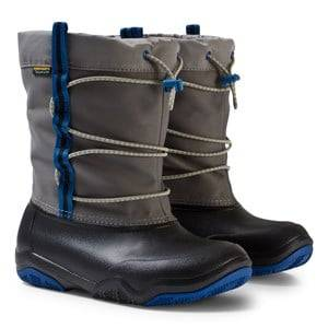 Crocs Unisex Boots Black Swiftwater Waterproof Boot Black/Blue Jean