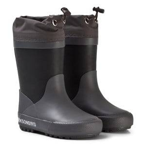 Didriksons Unisex Boots Slush Kids Wellies Black