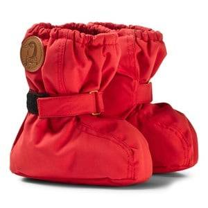 Mini Rodini Unisex Boots Red Alaska Baby Booties Red