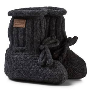 Melton Unisex Shoes Grey Lamb Wool Booties Dark Grey