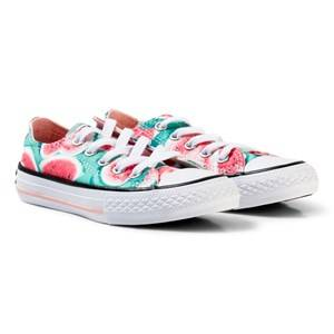 Converse Girls Sneakers Pink Pink Watermelon Print Chuck Taylor Ox Sneakers