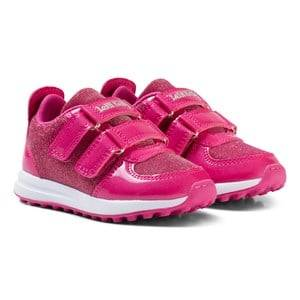 Lelli Kelly Girls Sneakers Pink Pink Patent Colorissima Velcro Trainers with interchangable Charm