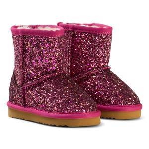 Lelli Kelly Girls Boots Pink Pink Diamante Fuchsia Sandra Shearling Ankle Boots