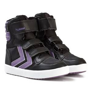 Hummel Unisex Sneakers Black Stadil Super Poly Boot Jr Montana Grape