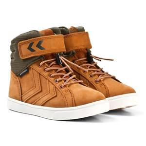 Hummel Unisex Sneakers Brown Splash Mid Jr Glazed Ginger
