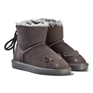 Petit by Sofie Schnoor Girls Boots Grey Boot Teddy Mouse Dark Grey