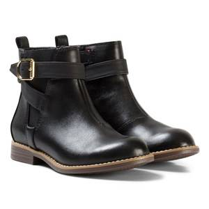 Tommy Hilfiger Girls Boots Black Black Aubrey Leather Ankle Boots