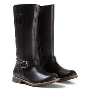 Tommy Hilfiger Girls Boots Black Black Aubrey Leather Tall Boots